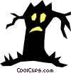 Halloween tree Vector Clipart illustration