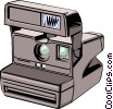 Vector Clip Art picture  of a Instant camera