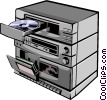 Vector Clip Art picture  of a Stereo system