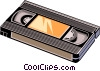 Video tape Vector Clipart picture