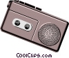 Vector Clip Art graphic  of a Cassette player