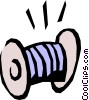 Vector Clipart graphic  of a Spool of thread