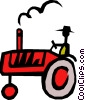 Vector Clipart graphic  of a Farm tractor