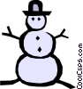 Vector Clipart illustration  of a Snowman