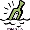 Message in a bottle Vector Clip Art picture