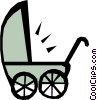 Baby carriage Vector Clip Art graphic