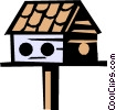 Vector Clip Art picture  of a Birdhouses