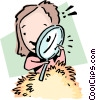 Vector Clipart graphic  of a Looking for a needle in a