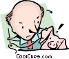 Sewing a silk purse from a sows ear Vector Clipart graphic