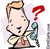 Vector Clip Art graphic  of a Call into question