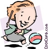 Keep the ball rolling Vector Clipart picture