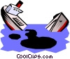 Vector Clip Art image  of a Oil spill