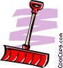 Snow shovel Vector Clipart picture