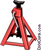 Vector Clipart illustration  of a Car jack stand