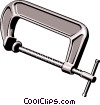 Vector Clip Art picture  of a C Clamp