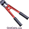 Vector Clipart image  of a Bolt cutters