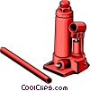 Vector Clipart picture  of a Car jack