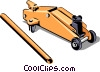 Car Jack Vector Clipart graphic