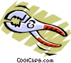 Vector Clip Art graphic  of a Pliers
