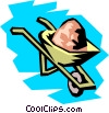 Wheelbarrow Vector Clip Art graphic