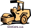Vector Clip Art graphic  of a Paving roller