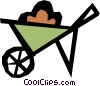Vector Clip Art image  of a Wheel barrow