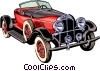 Vector Clipart illustration  of an Antique car