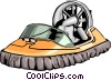 Hovercraft Vector Clip Art picture
