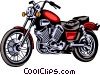 Vector Clip Art picture  of a Motorcycle