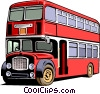 Vector Clipart illustration  of a Double-decker bus