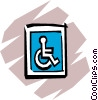 Vector Clipart graphic  of a Handicap parking