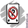 Vector Clipart image  of a No-parking