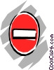 No-entry sign Vector Clipart picture