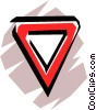 Vector Clipart illustration  of a Yield sign