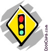 Vector Clip Art image  of a Traffic light sign