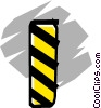 Vector Clip Art graphic  of a Caution signs