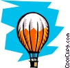 Vector Clip Art graphic  of a Hot air balloons