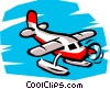 Vector Clip Art graphic  of a Pontoon plane