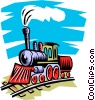 Vector Clipart picture  of a Steam engine