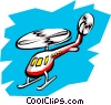 Vector Clipart illustration  of a Helicopter