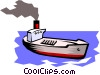 Vector Clip Art image  of a Container ship