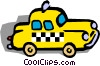 Vector Clip Art picture  of a Taxi