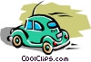 Vector Clipart graphic  of a Volkswagen beetle
