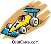 Vector Clipart image  of a Racing car