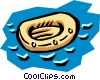 Vector Clipart graphic  of a Life raft
