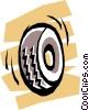 Vector Clipart graphic  of a Wheel