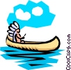 Indian canoe Vector Clipart picture