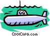 Submarine Vector Clipart illustration
