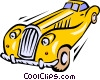 Vector Clip Art graphic  of a Luxury automobiles