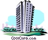 Vector Clipart graphic  of an Apartment building